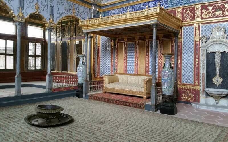 Topkapi Palast Istanbul Thron des Sultans