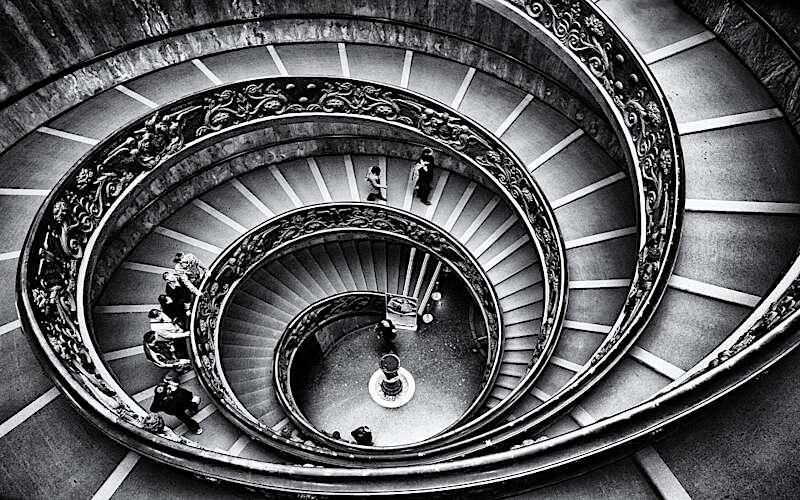 Treppe im Vatikanischem Museum
