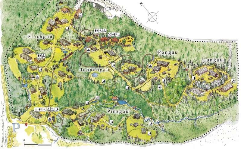 Lageplan Freilichtmuseum