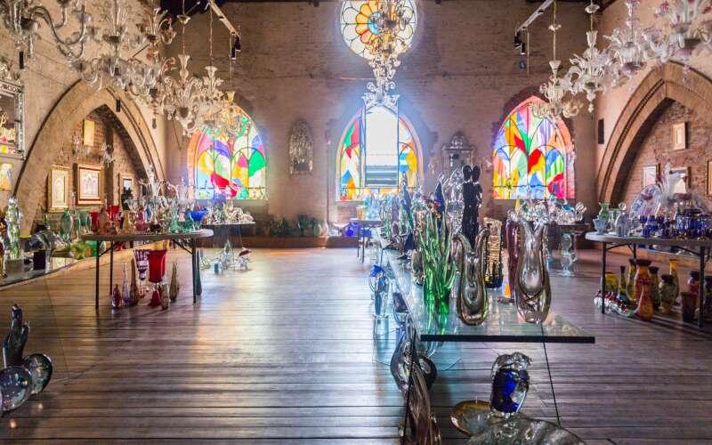 Raum im Glasmuseum