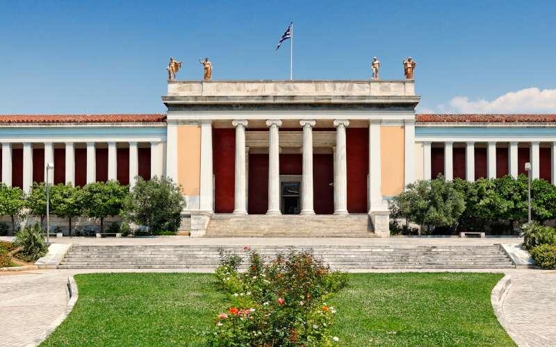 Klassenfahrt Athen Archäologisches Museum Fassade