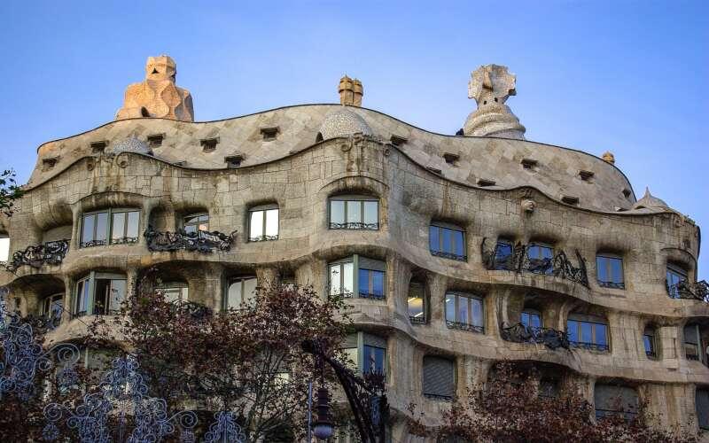 Klassenfahrt Barcelona Casa Mila Fassade
