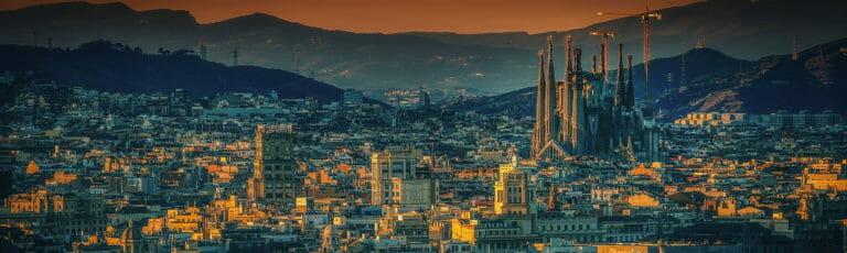 Klassenfahrt Barcelona am Abend