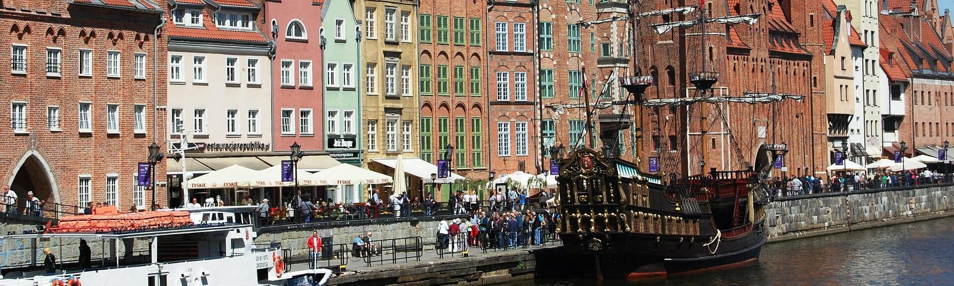Klassenfahrt Danzig am Hafen