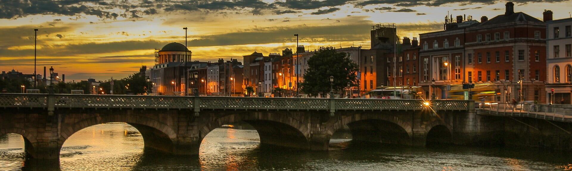 Klassenfahrt Dublin am Abend