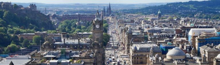Klassenfahrt Edinburgh Stadtansicht