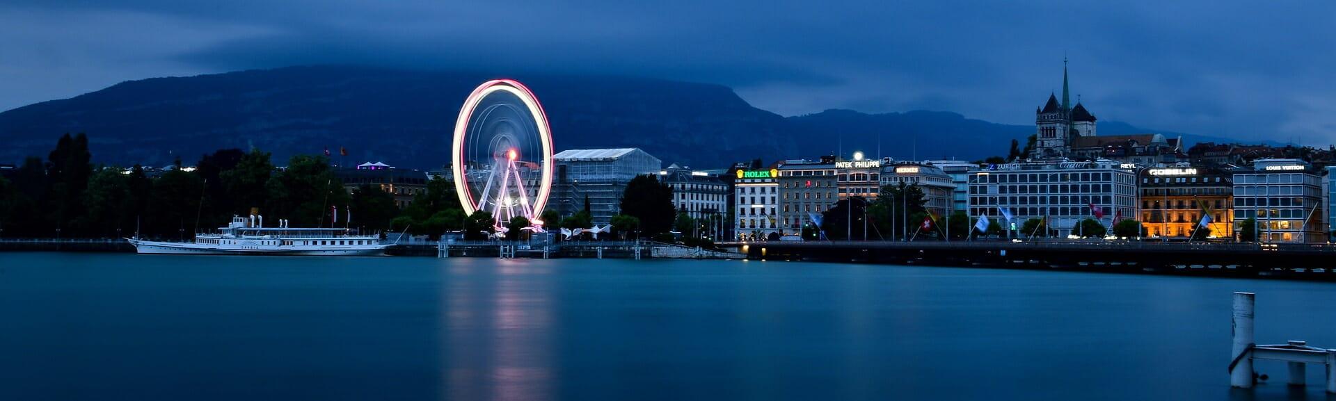 Klassenfahrt Genf am Abend