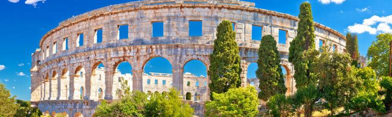 Klassenfahrt Istrien Amphitheater Pula