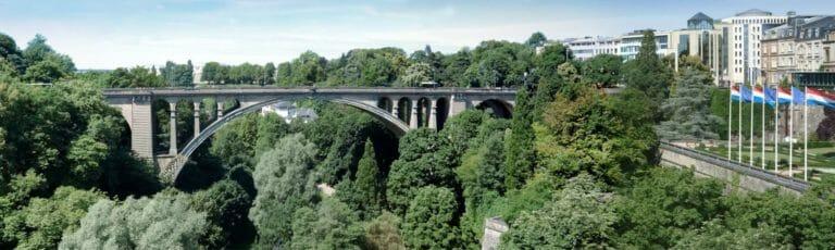 Klassenfahrt Luxemburg Adolphe-Brücke und Umgebung