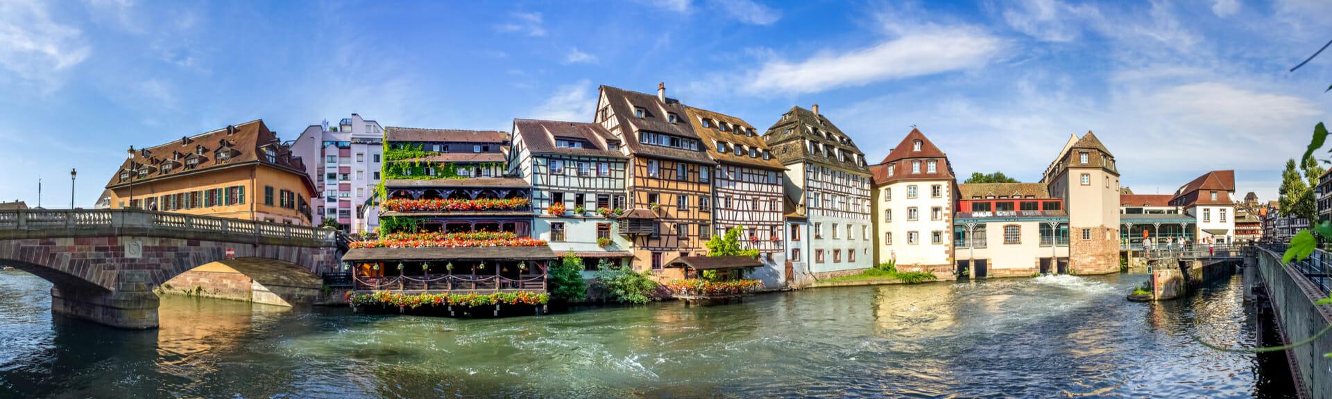 Klassenfahrt Strassburg typische Fachwerkhäuser