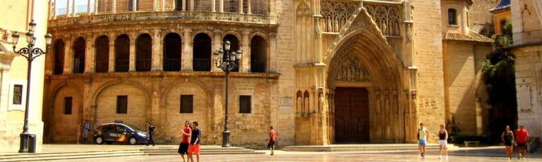 Klassenfahrt Valencia Plaza de la Virgen