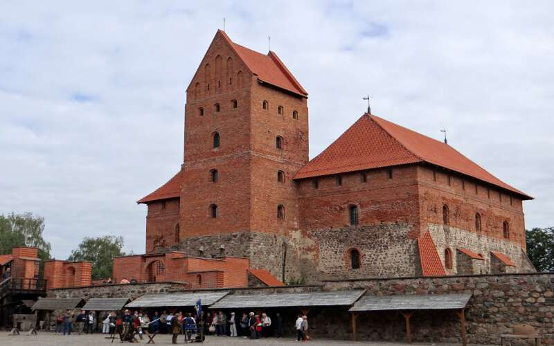 Burganlage Trakai Aussenansicht