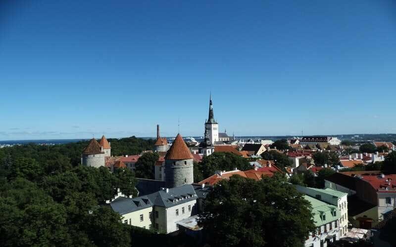 Domberg Tallinn Aussicht von oben